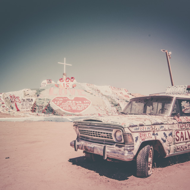 """Salvation mountain"" stock image"