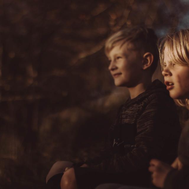 """Golden hour boys"" stock image"
