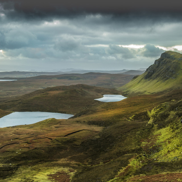 """Thunder At The Quiraing"" stock image"