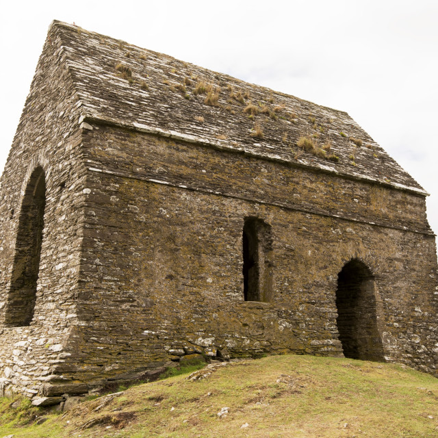 """""""View of a very old chapel"""" stock image"""