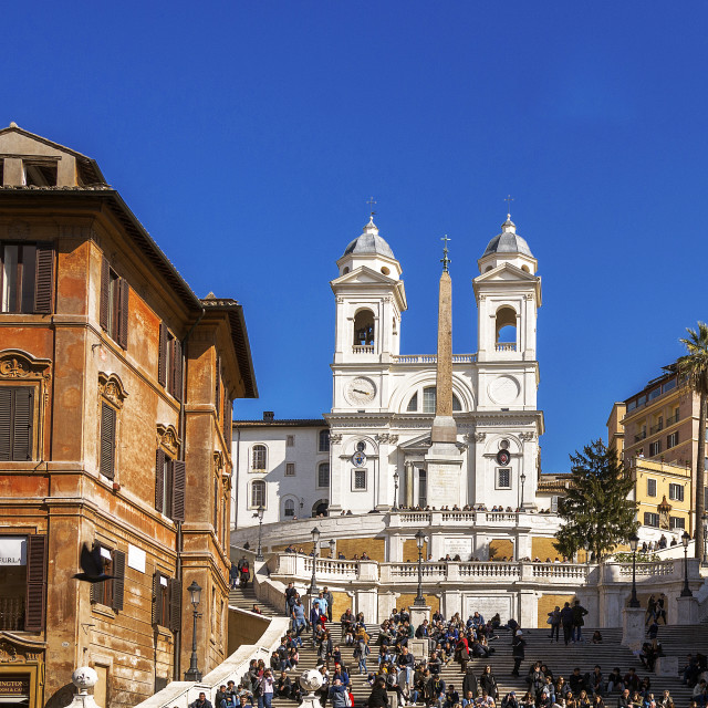"""The famous Spanish Steps in Rome"" stock image"