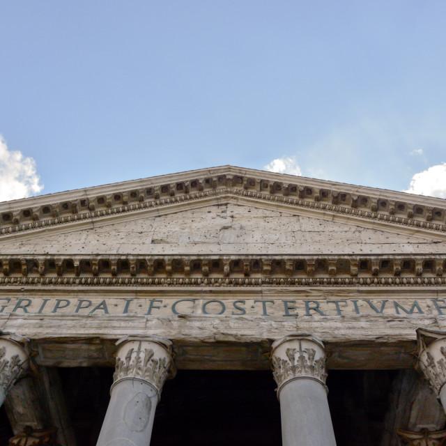 """Roman Pantheon architrave"" stock image"