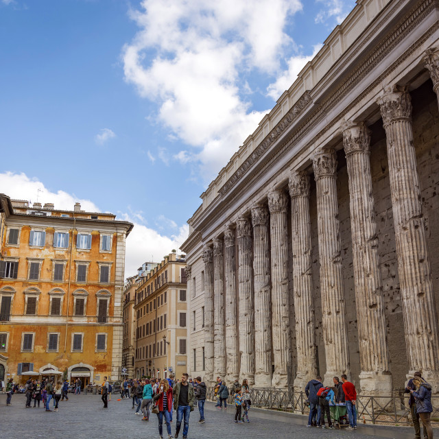 """The Temple of Hadrian in Piazza di Pietra, Rome, Italy"" stock image"