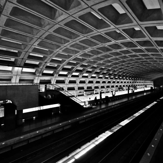 """Metro Station, Washington DC"" stock image"