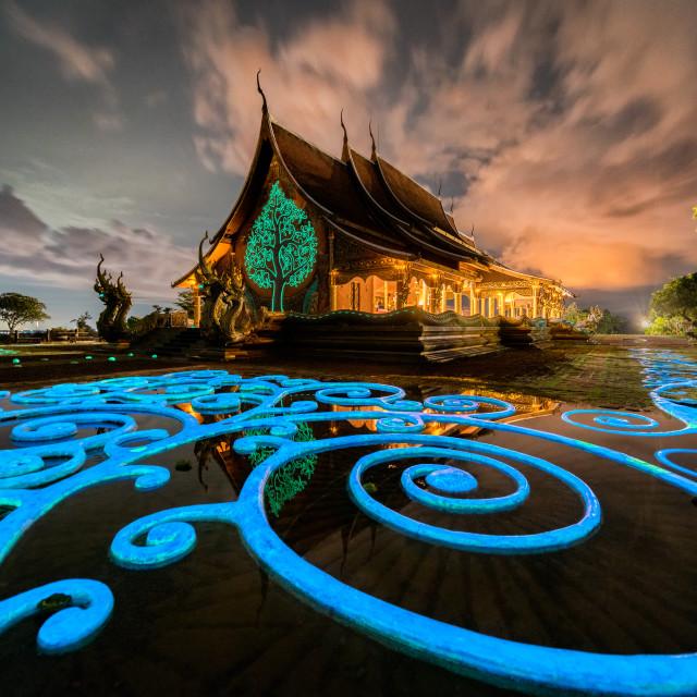 """Sirindhorn Wararam Phu Prao Temple"" stock image"