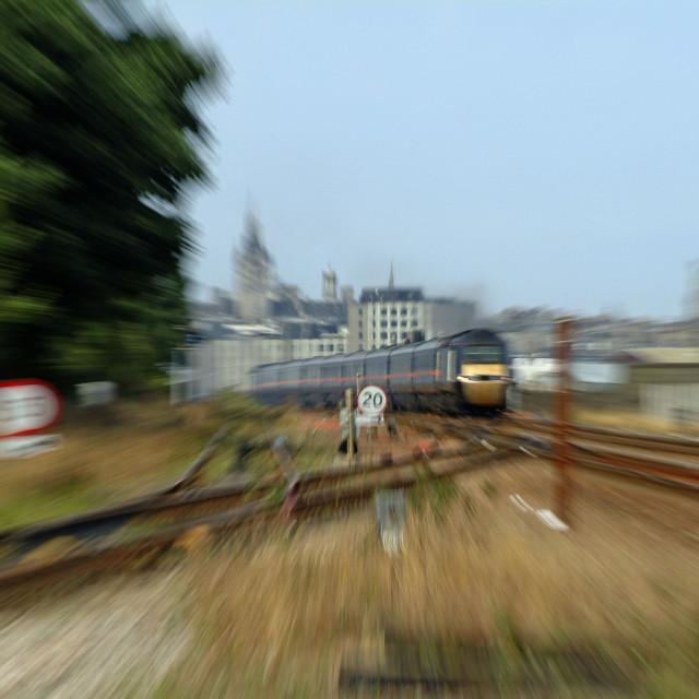 """Aberdeen 125 Zooms Away"" stock image"