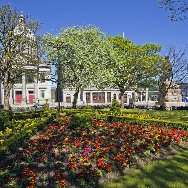 """""""Aberdeen Albert Statue Garden"""" stock image"""