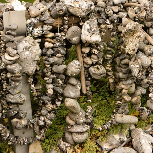 """""""Adder Stones Flint Stones in Wustrow"""" stock image"""