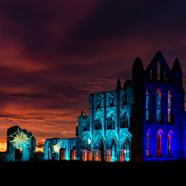 """Whitby Abbey"" stock image"