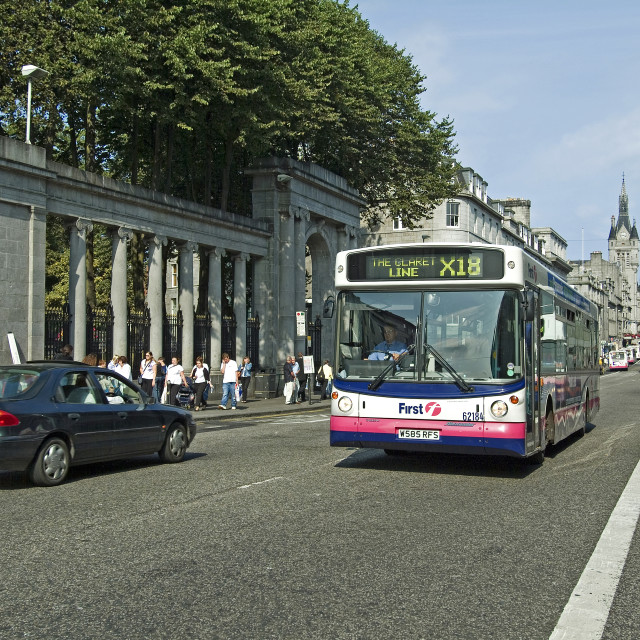 """Aberdeen Busy Union Street"" stock image"