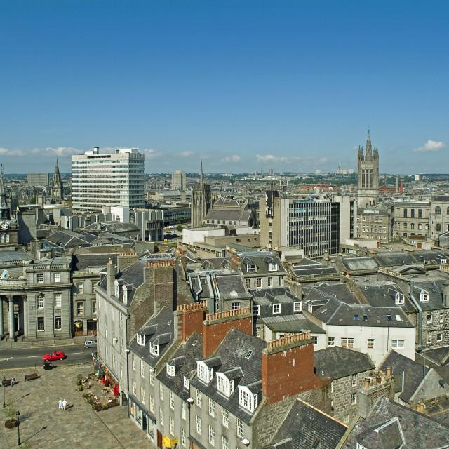 """Aberdeen City Skyline"" stock image"