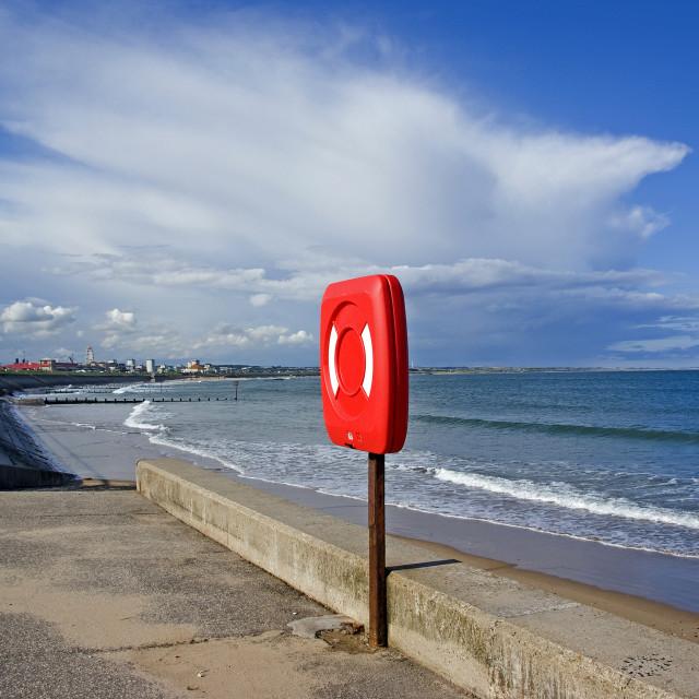"""Aberdeen Espanade & Beach"" stock image"