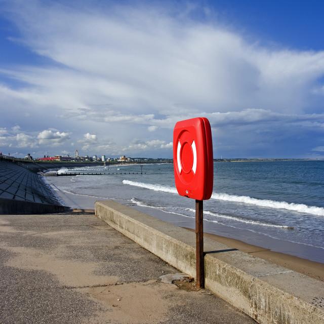 """Aberdeen Esplanade & Beach"" stock image"