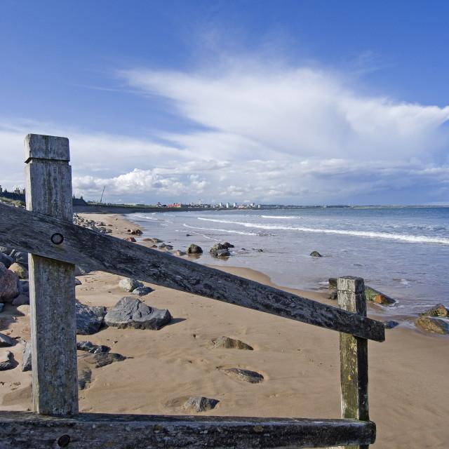 """Aberdeen Esplanade at Beach"" stock image"