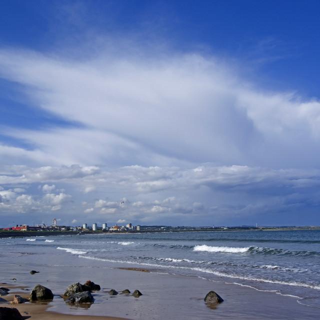 """Abereen Esplanade & Beach"" stock image"