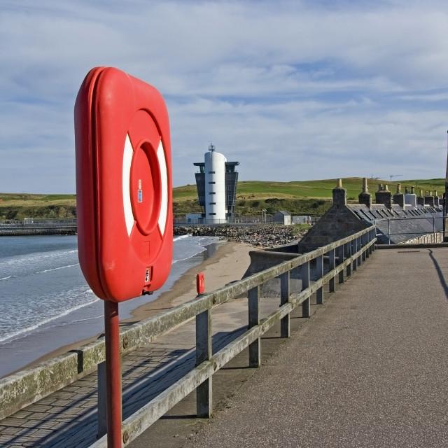 """""""Aberdeen Esplanade & Footdee"""" stock image"""