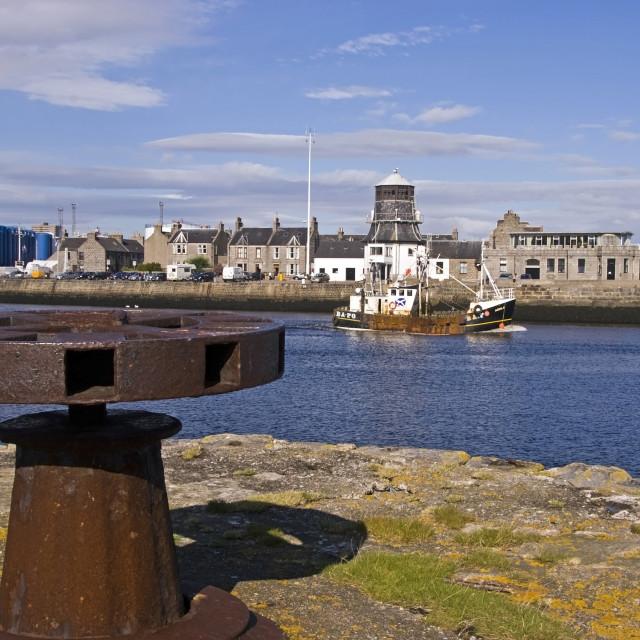 """Aberdeen fm Greyhope Jetty"" stock image"
