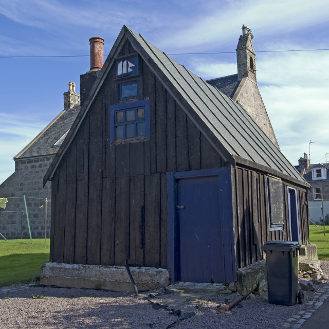 """Aberdeen Footdee House"" stock image"