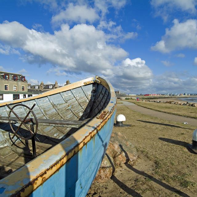 """""""Aberdeen Beach fm Footdee"""" stock image"""