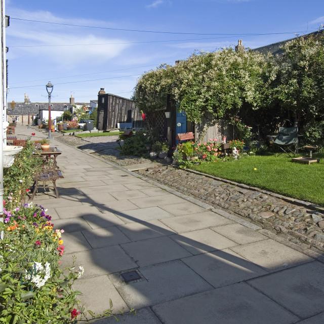 """Aberdeen Footdee Street"" stock image"