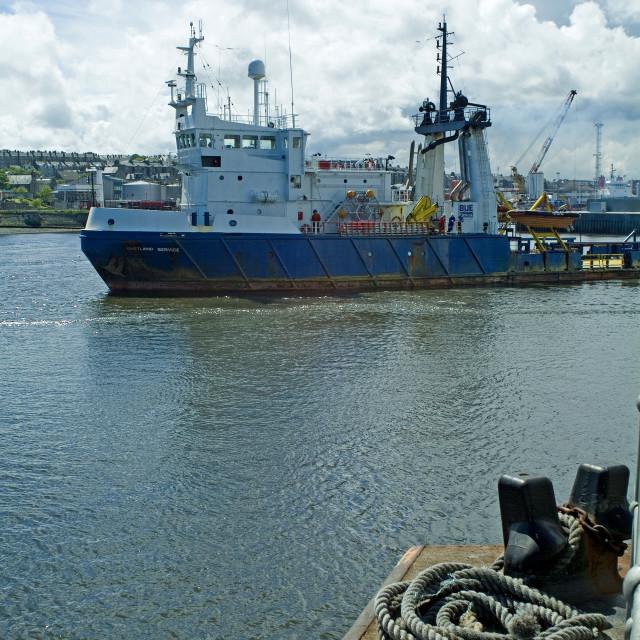 """Aberdeen Harbour Activity"" stock image"
