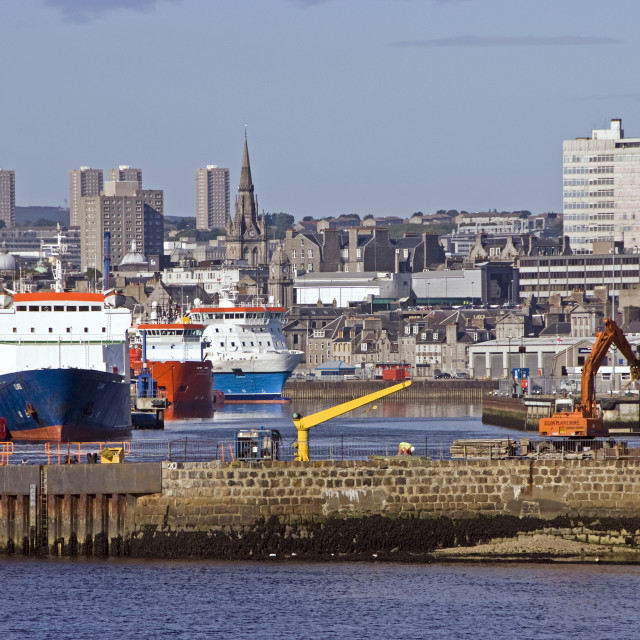 """""""Aberdeen Harbour Boats"""" stock image"""