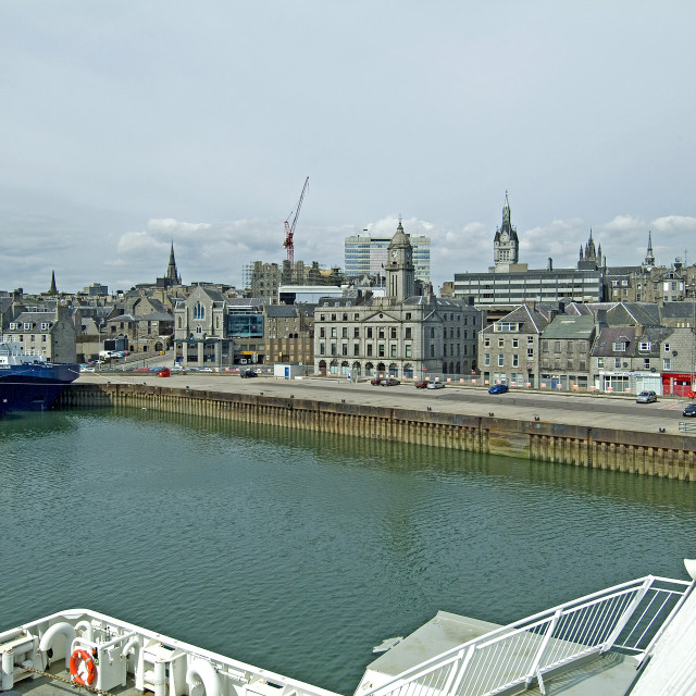 """Aberdeen Harbour Front"" stock image"