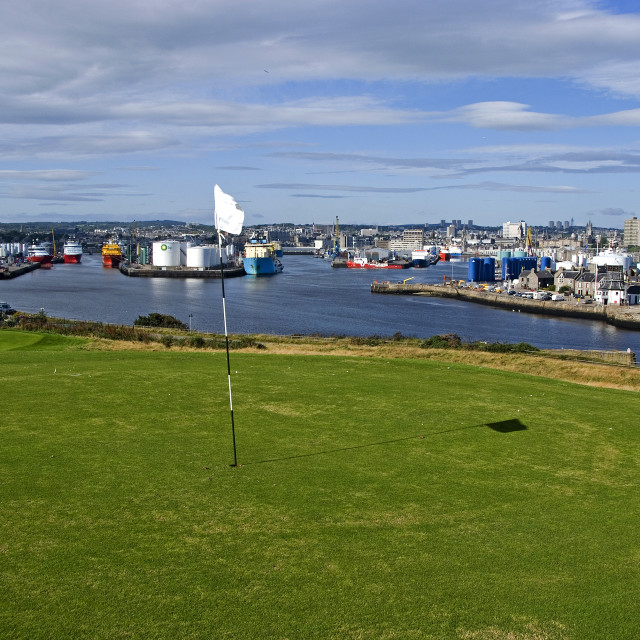 """""""Aberdeen Panorama fm Golf Course"""" stock image"""