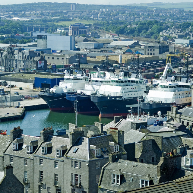 """Aberdeen Harbour View"" stock image"