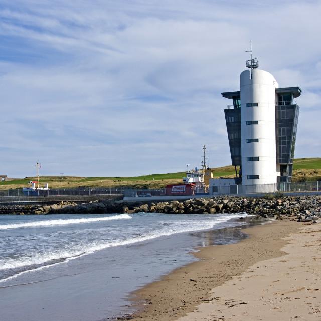 """Aberdeen Marine Centre & Ship"" stock image"