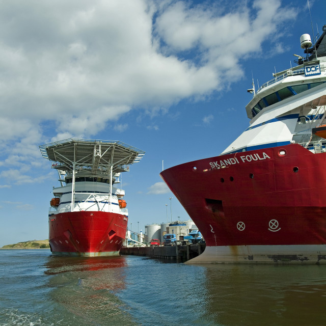 """Aberdeen Oil Support Vessels"" stock image"