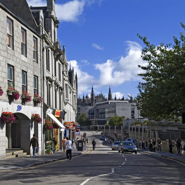 """Aberdeen Schoolhill"" stock image"