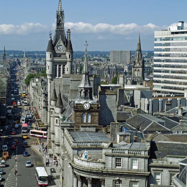 """Aberdeen Skyline"" stock image"