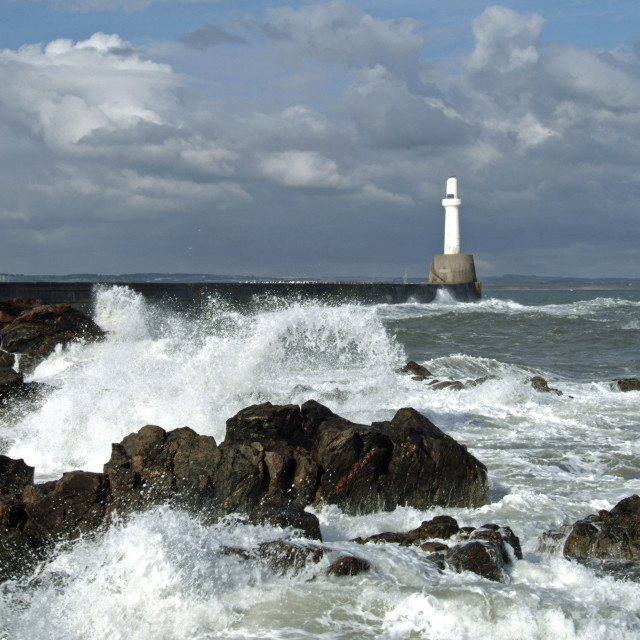 """""""South Pier Lighthouse"""" stock image"""