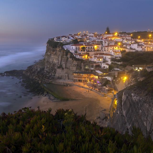 """""""Azenhas do Mar, Sintra, Portugal"""" stock image"""