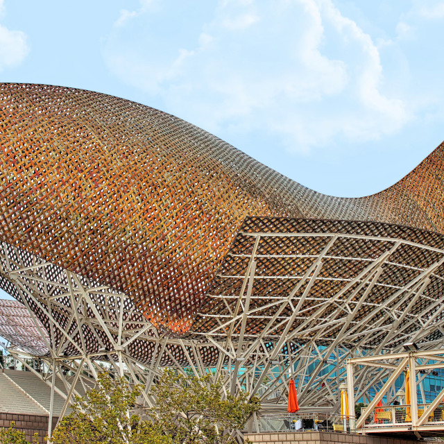 """""""Barcelona - Fish by Gehry"""" stock image"""