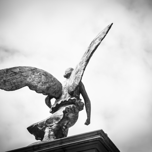 """""""Flying statue"""" stock image"""