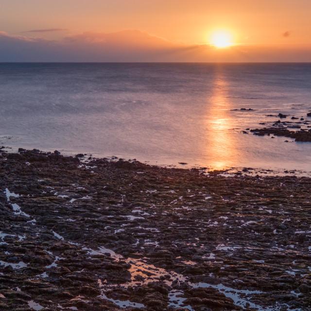 """Sunrise over the North Sea"" stock image"