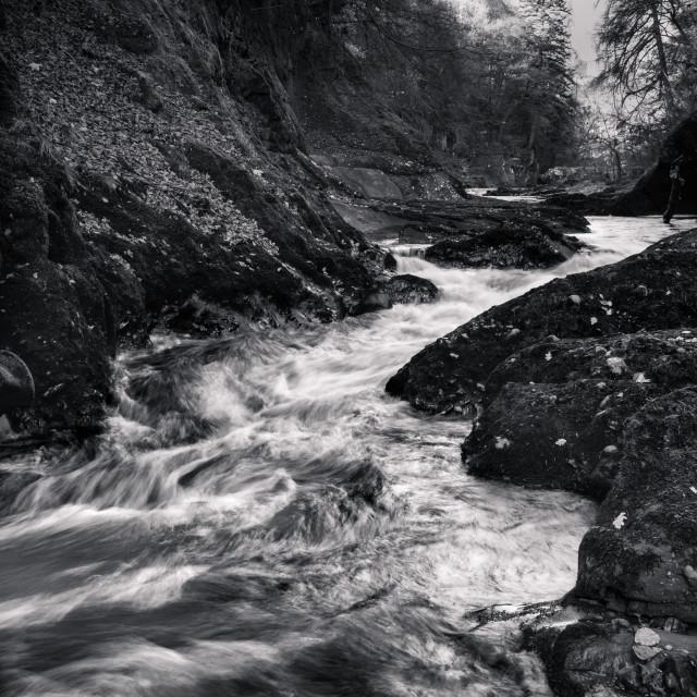"""""""River North Esk"""" stock image"""