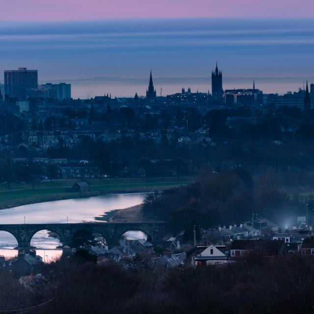 """River & Spires, Aberdeen"" stock image"