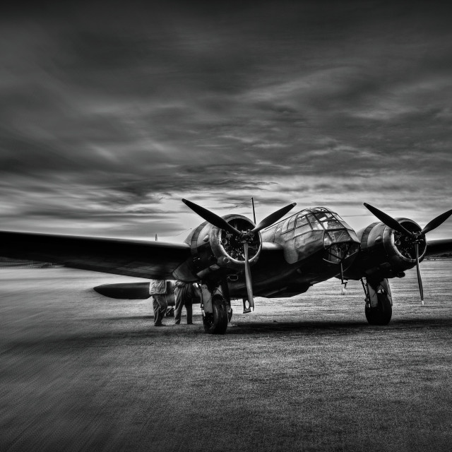 """Blenheim at Duxford."" stock image"