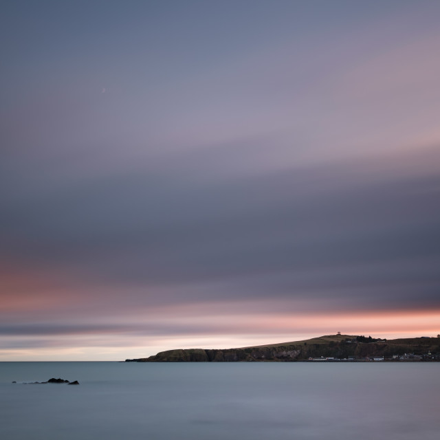 """""""Sunset over Stonehaven Bay"""" stock image"""