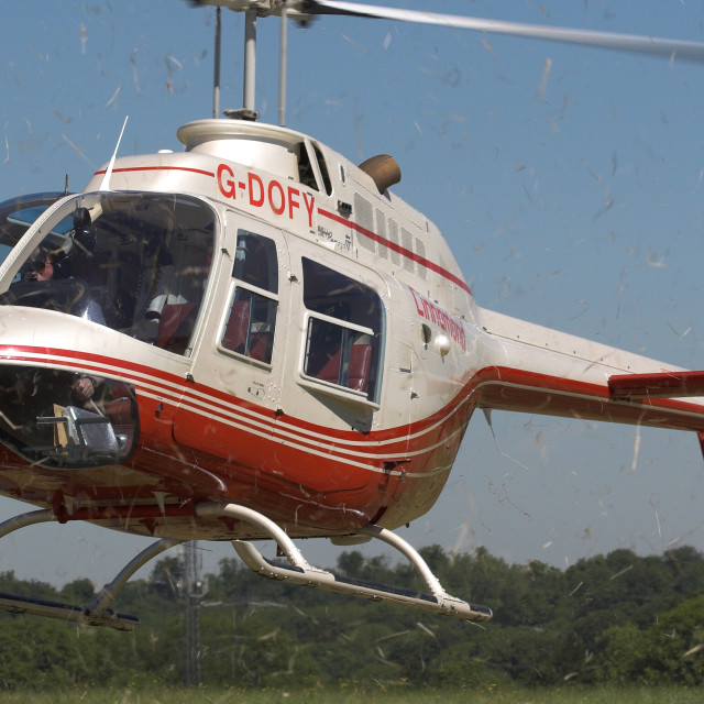 """""""Helicopter Jetwash"""" stock image"""