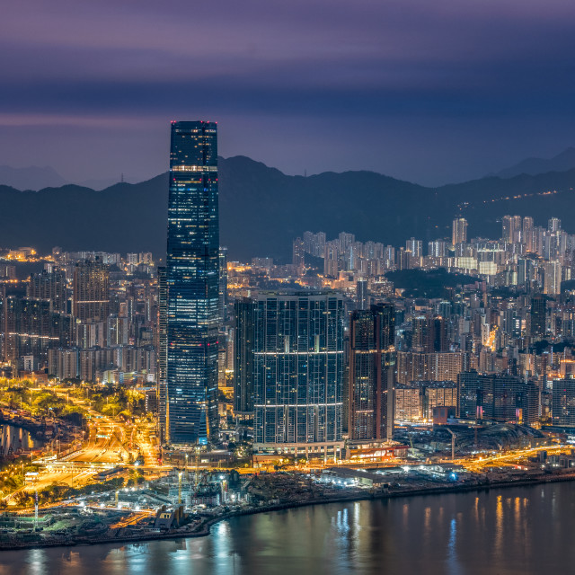 """Kowloon Dawn"" stock image"