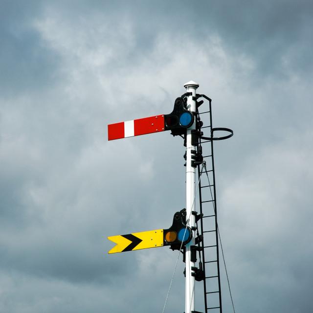 """Semaphore Signals"" stock image"