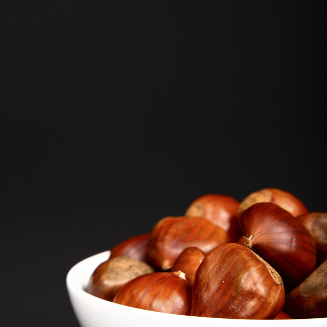 """""""Chestnuts in a bowl"""" stock image"""