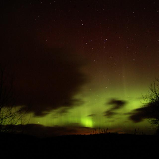 """""""spring aurora borealis"""" stock image"""