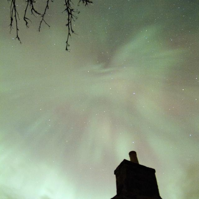 """aurora coronal zenith"" stock image"