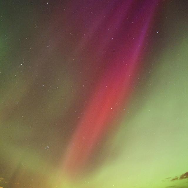 """""""aurora borealis rays to east"""" stock image"""