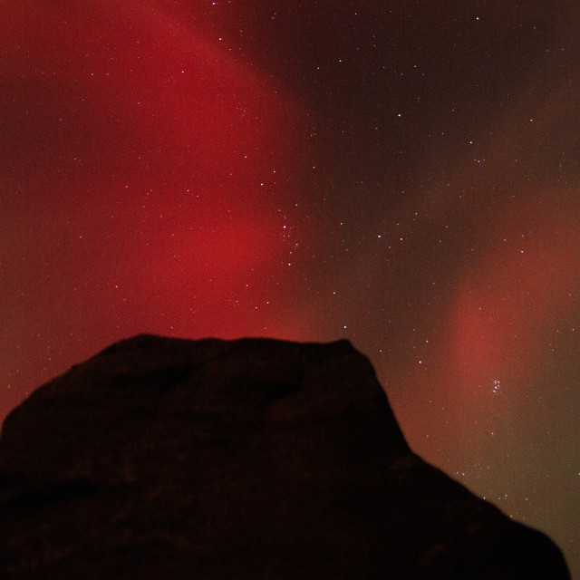 """aurora borealis & stone flanker"" stock image"